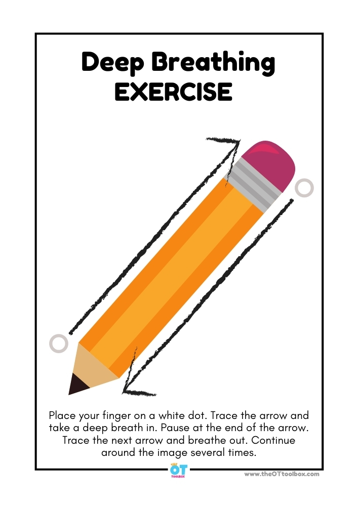 Pencil theme deep breathing exercise.