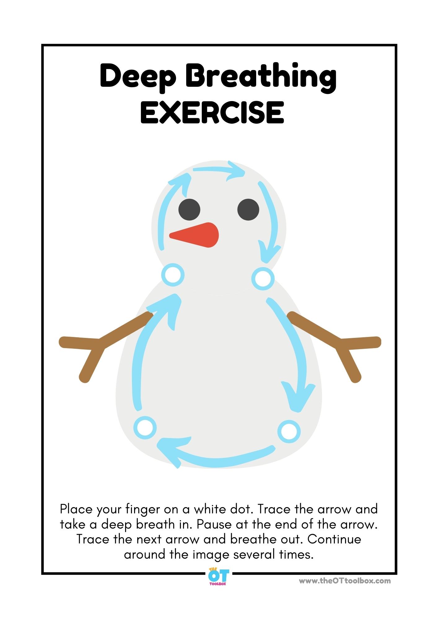 Snowman deep breathing exercise