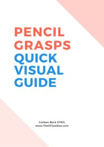 Pencil Grasp Quick Visual Guide