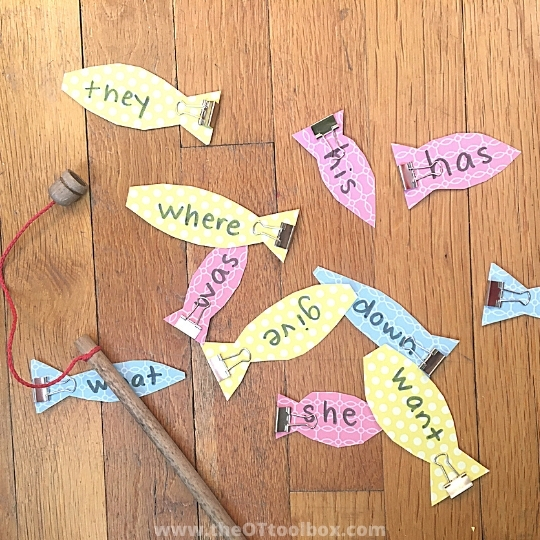 Make a fish learning activity and kids can fish for words or fish for math problems. Great for kinesthetic learning.