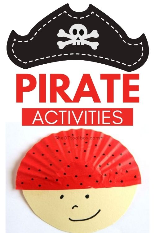 Pirate activities for occupational therapy interventions in teletherapy