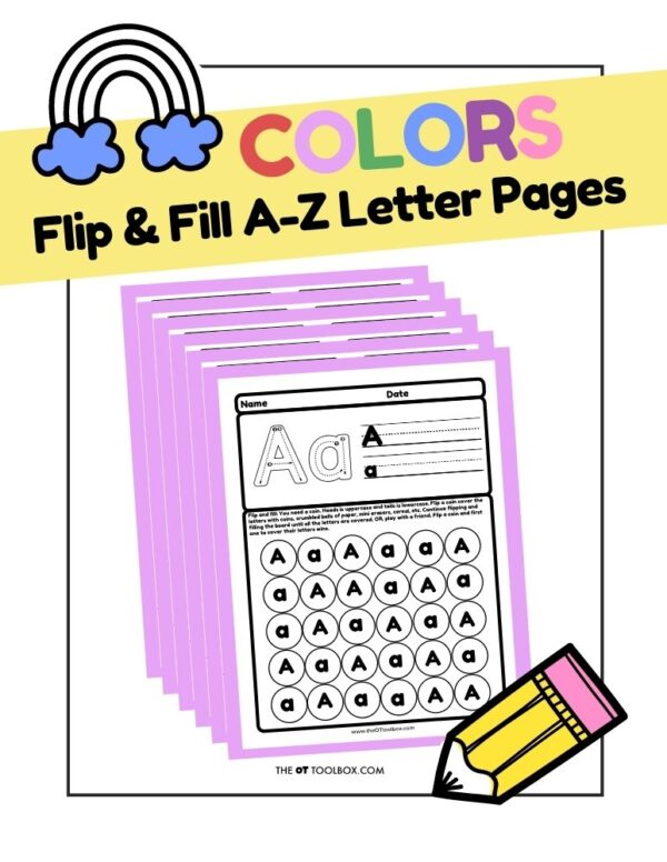 Fine Motor Flip and Fill A-Z Letter Pages