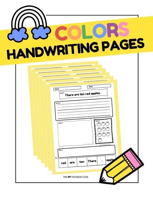 Colors Handwriting Pages