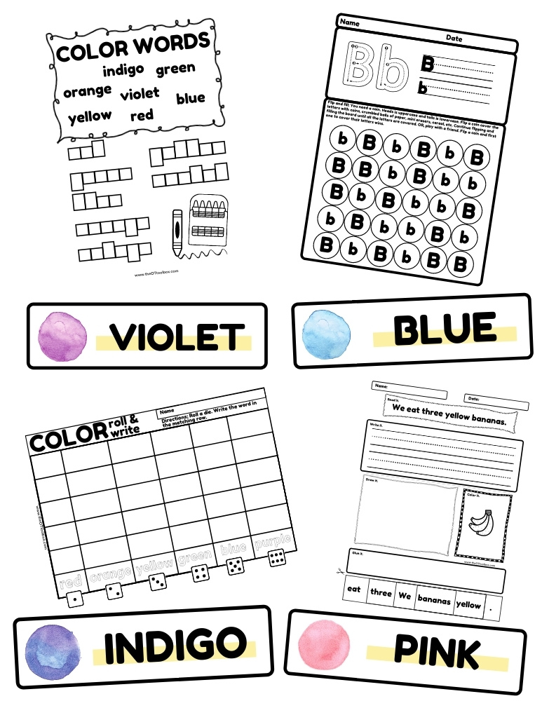 Colors Handwriting Kit includes handwriting worksheets, write the room pages, and more