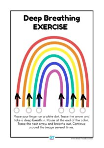 rainbow exercises deep breathing printable
