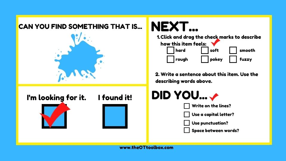 Use this I Spy color activity to teach colors and work on various child development skills, including handwriting.