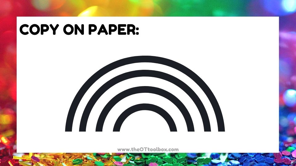 Copy a rainbow visual motor activity