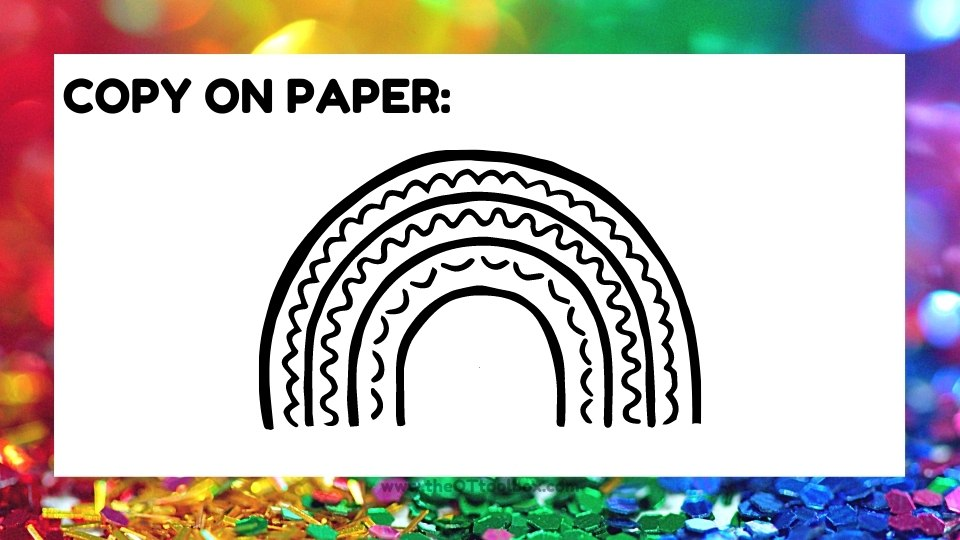 Draw a rainbow activity for kids