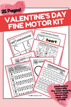 Valentines Day fine motor kit