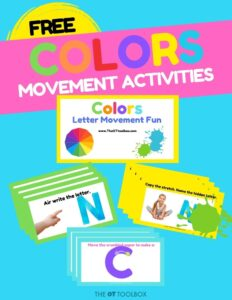 Color exercises for teletherapy