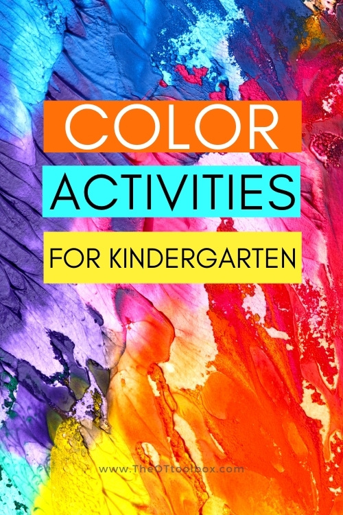 Teaching colors to kindergarten children with multisensory learning activities.