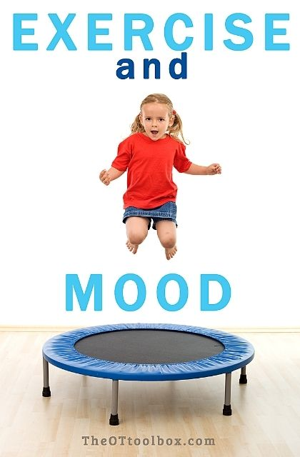 Exercise and mood in children. Kids benefit from exercise to help with tantrums, behaviors, and confidence.