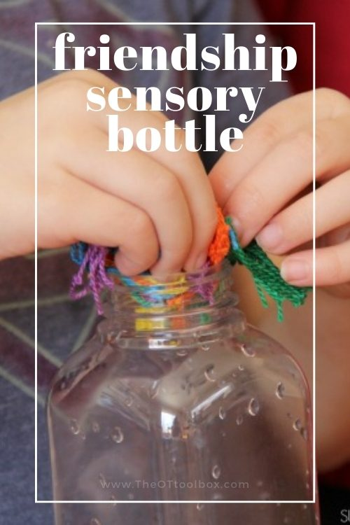 friendship sensory bottle