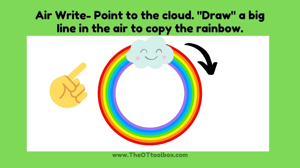 prewriting lines rainbow activity for kids
