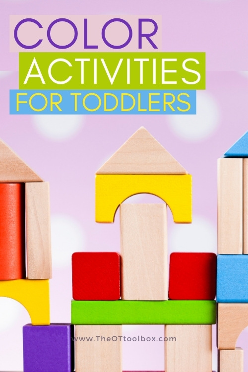 Activities to teach colors to toddlers