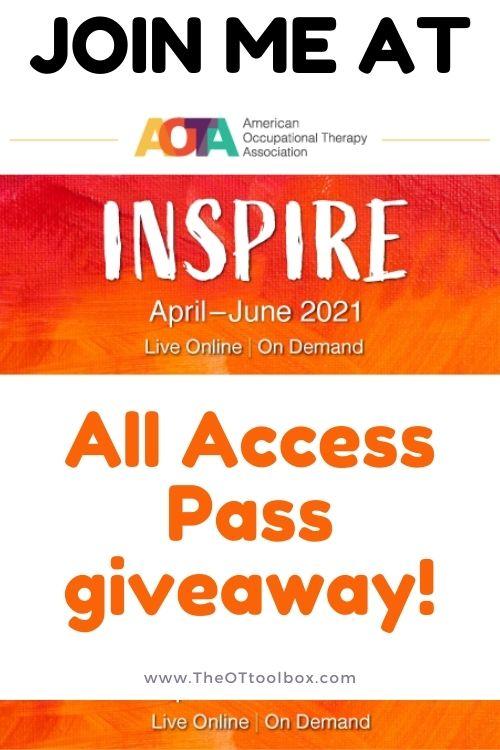 AOTA Inspire giveaway and AOTA membership benefits