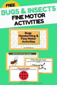 Bug fine motor activities slide deck'