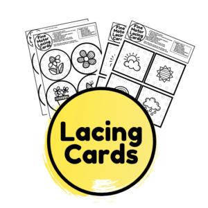 Printable Spring lacing cards