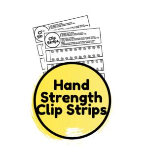 Spring hand strength clip cards