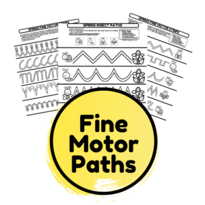 Fine motor sticker paths and printable activities