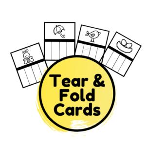 Tear and fold worksheets for fine motor skills