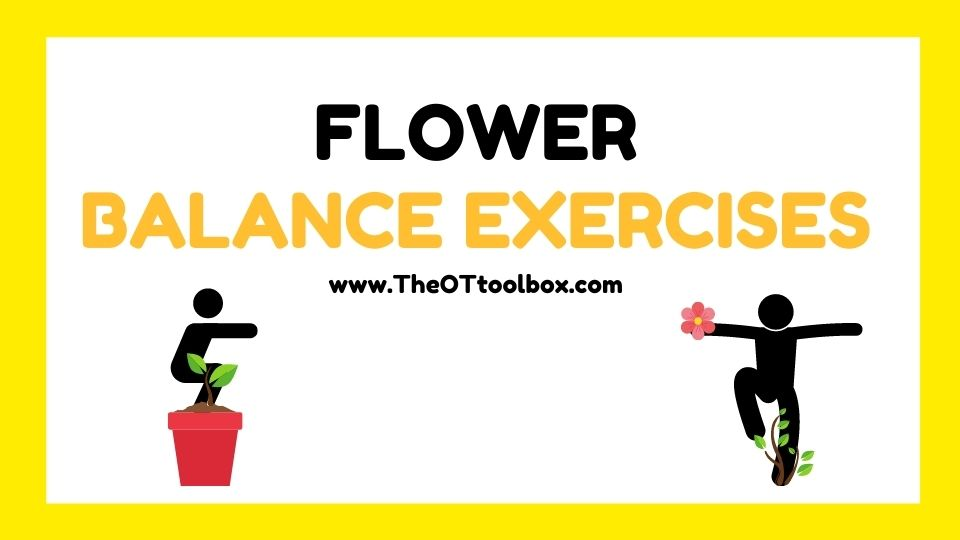 Flower balance activities for kids