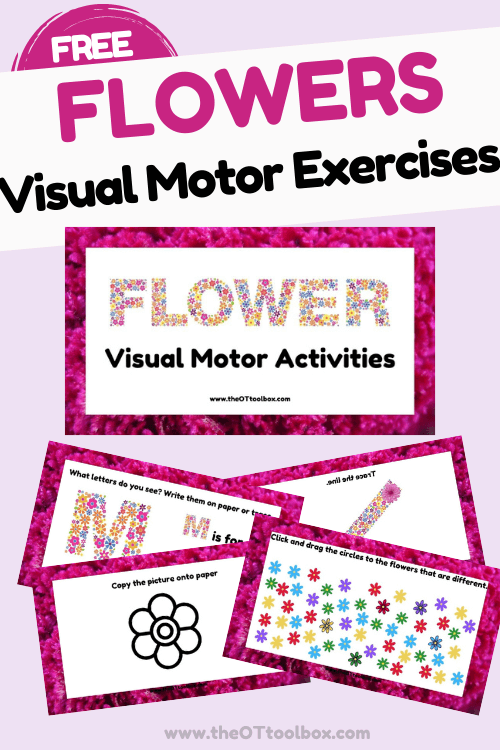 Flower visual motor exercises for therapy