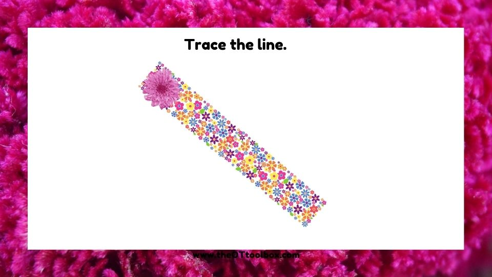 Work on visual motor skills with this flower theme slide deck in occupational therapy.