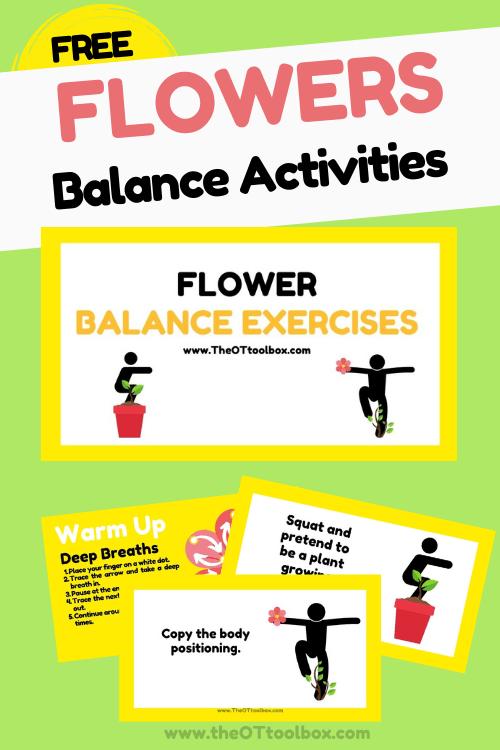 Flower balance activities