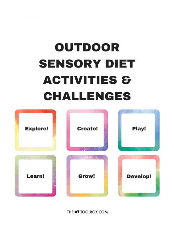 outdoor sensory diet cards