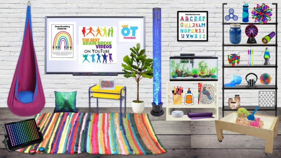 Virtual sensory room for kids