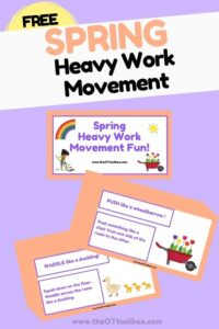 Spring heavy work activities for teletherapy