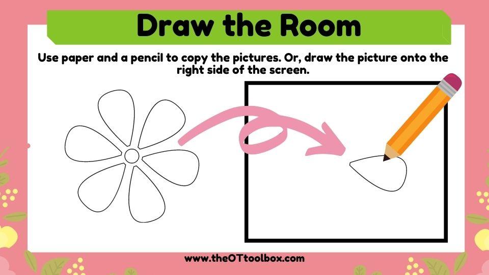 Draw the room visual motor activity