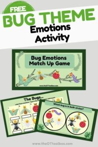 Emotions Matching game with a bug theme for Spring