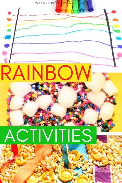 Rainbow activities for child development and occupational therapy interventions