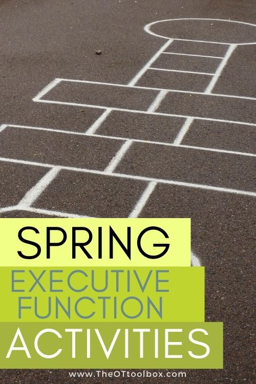 Spring activities for executive functioning