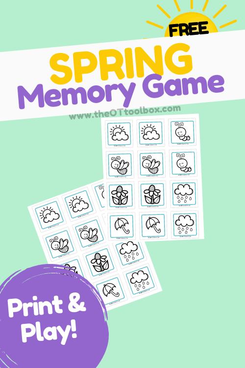 Spring memory game