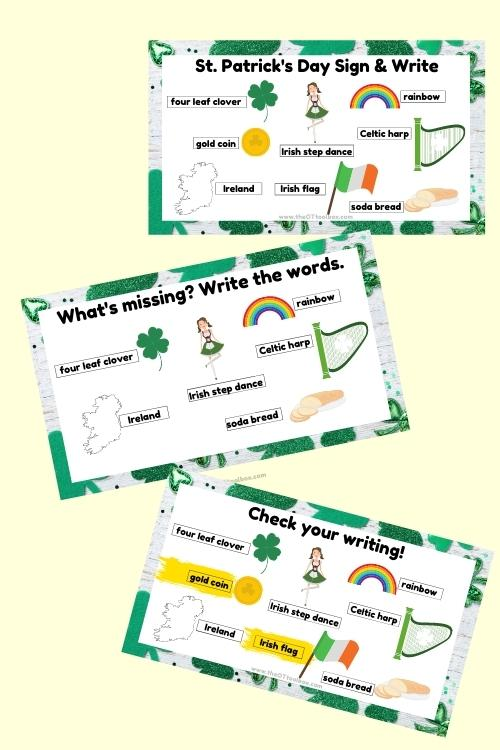 St. Patrick's day writing prompt and puzzle