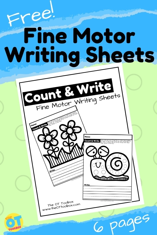 Spring worksheets to help kids with fine motor skills, handwriting, and letter formation.