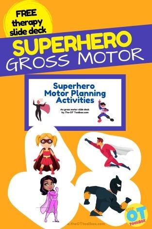 superhero gross motor activities slide deck