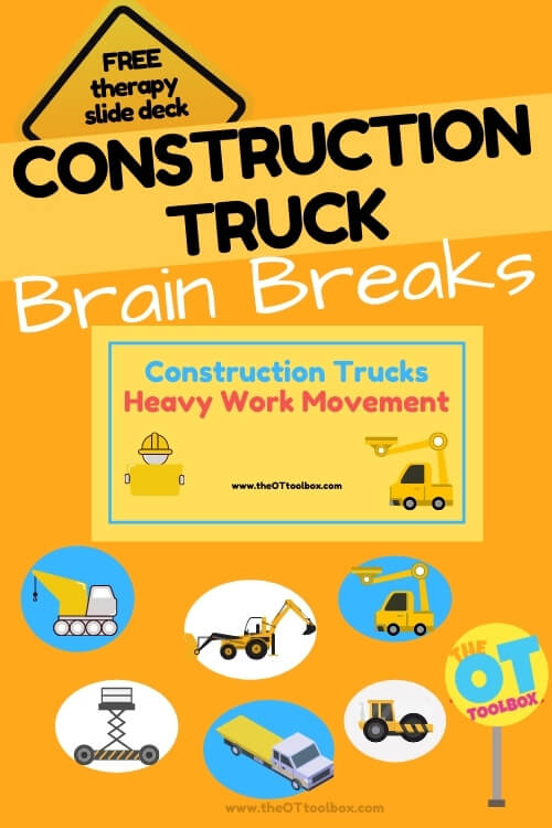 Construction truck brain breaks for kids that love all things construction vehicles.