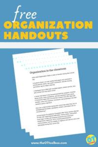 organization handouts