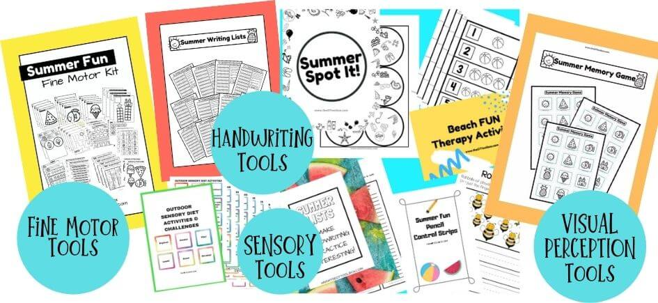 Summer occupational therapy activities bundle