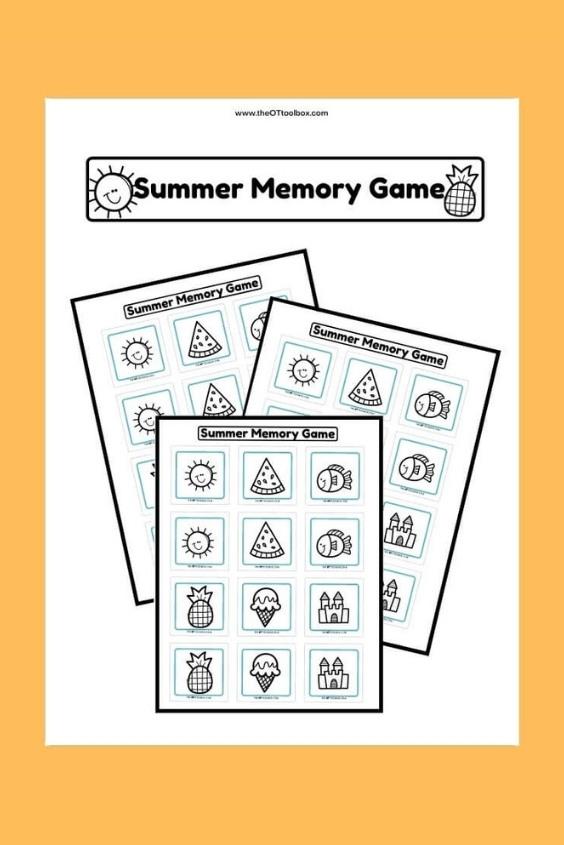 Summer Memory Game