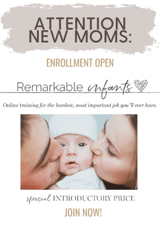 Baby development course for new moms on Infants, taught by 5 child development experts, is a 5 hour crash course on development of the whole child from birth through 12 months of age.