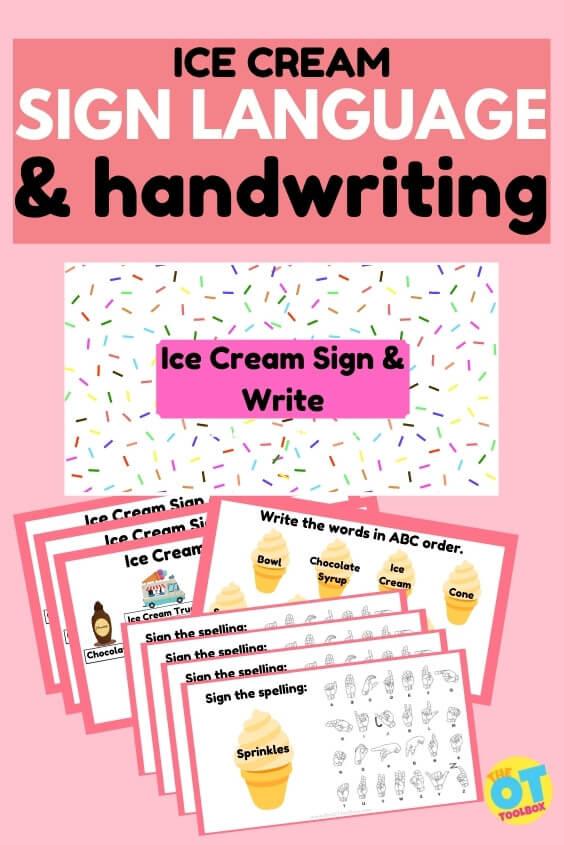 Ice Cream Writing Activity for kids