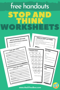 Stop and think worksheets
