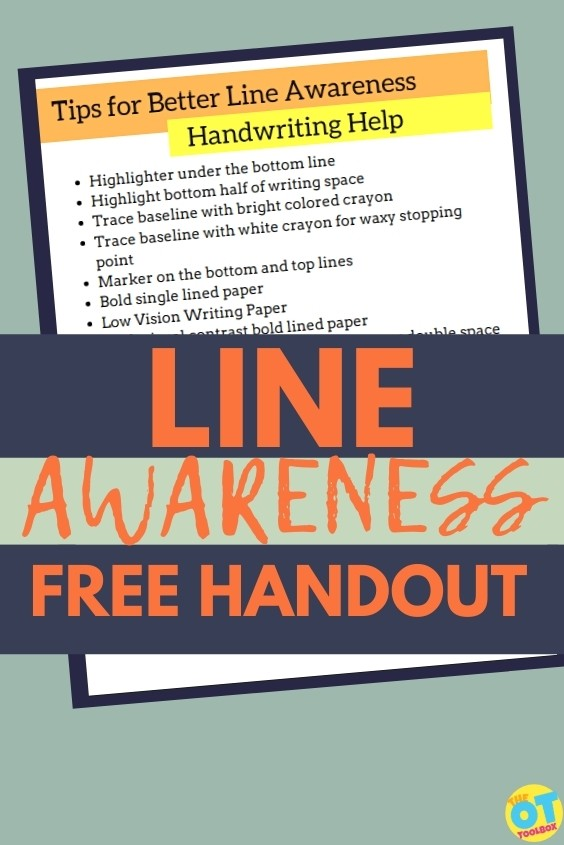 Writing lines activities for occupational therapy handwriting sessions, to improve line awareness.