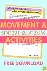 spatial relations activities