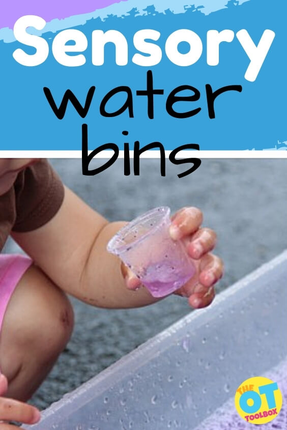 Sensory water bins in therapy